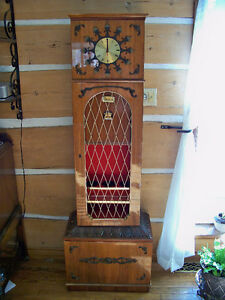 Revamped grandfather clock/bar/record player