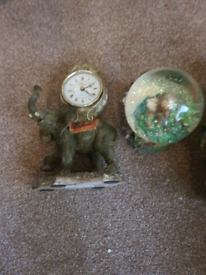 Elephant clock ornament