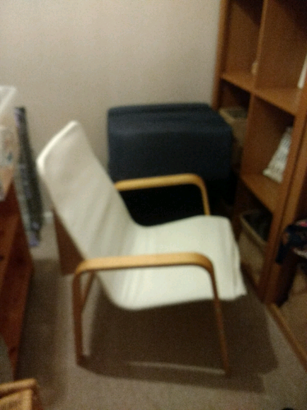 Ikea Chair In Cream Canvas And Wood