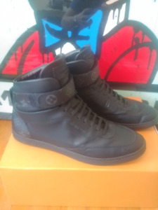 "Louis Vuitton ""eclipse monogram""  high top sneakers $450 obo"