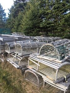 Wooden lobster traps for outdoor decoration