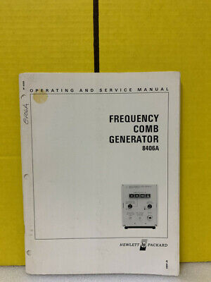 Hp 08406-90001 Model 8406a Frequency Comb Generator Operating Service Manual