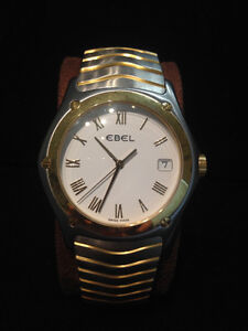 Ebel Classic Wave Quartz Movement 18K Gold and Stainless Steel