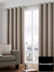 Brand new CurtinaCamberwell Jacquard Lined Eyelet Curtains