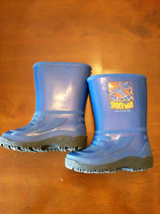 Toddler size 8 Spiderman rain boots- like new- $8