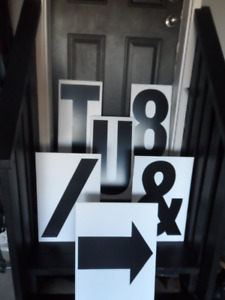 Corrugated Plastic Letters For Mobile Signs