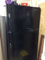 Jenn air black refrigerator for sale- great condition