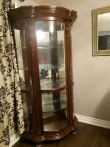 Italian made solid wood glass cabinet for sale