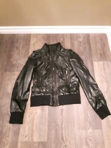 Faux leather moto jacket ladies s/m