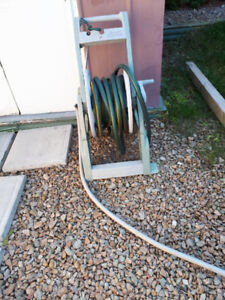 Garden hose and roller cart