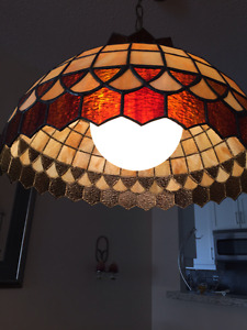 Tiffany stained glass dining room lamp