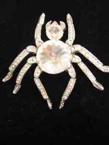 CRYSTAL SPIDER BROOCH