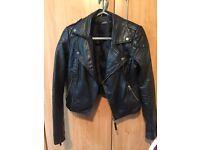 Miss Selfridge petite leather jacket