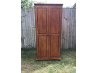 Good solid pine double wardrobe in very good condition