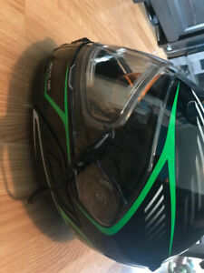 Black/Green Arctic Cat modular helmet-Size S *Never Used*