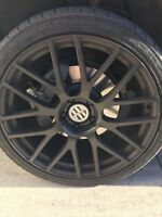 Set of four 22 inch  rims and summer tires