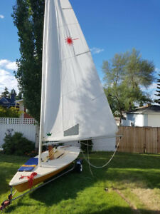 Laser Class One Sailboat with Trailer