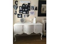Stunning French Rococo Laura Ashley painted side unit, dresser, sideboard