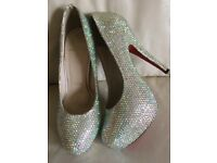 Christian Louboutin crystal heels