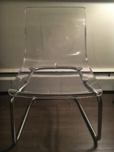 IKEA Clear Chairs (2)