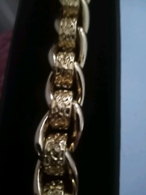 Gold filled rollerball bracelet 8to9inches new