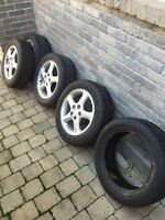 Winter tire with rims 225/55/16