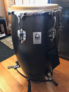 Toca Conga Drum with Stand. Never used. Mint Condition. Wooden