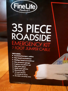 35 Piece Emergency Car Kit.  Brand new, in the box. Never used.