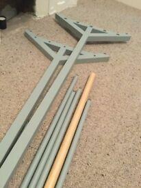 Clothes rack rail hanger John Lewis wooden