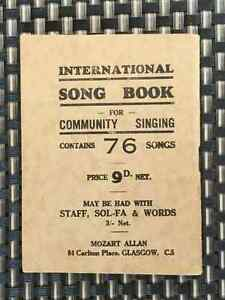 Antique Burns Song book - 1950s Cambridge Kitchener Area image 2