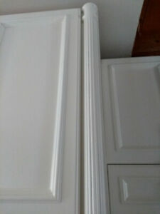 3 beautiful half fluted columns