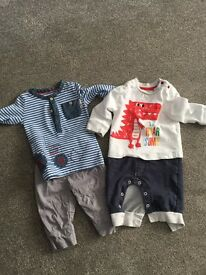 Baby boy outfits 3-6 mths