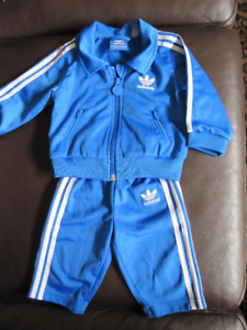 Baby Boys Adidas Tracksuit    3-6 months