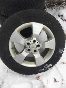NEW PRICE: NOKIAN Winter Tires on OEM Mercedes Mags: 235/60/17