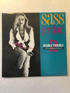 "SASS JORDAN ""Double Trouble"" Vinyl 12"" Single (1989)(33.3 RPM)"