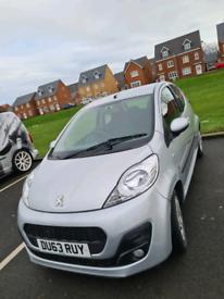 2014 Peugeot 107 manual 3dr zero Tax 12 month M.O.T 45000 miles