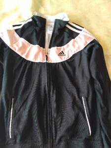 Brand name jackets and sweaters.