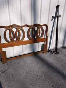 Solid wood vintage double/ Queen size bed