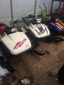 Rare kids Yamaha sno sport and sno scoot