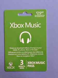 Xbox Music card (new)