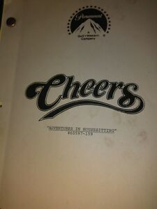 "Rare  Cheers TV series script Dec.13, 1988 ""Adventures in Hou..."