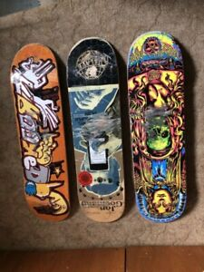 New and slightly used skateboards