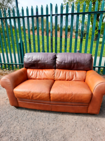 Leather 2 seater Sofa (delivery available