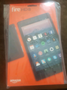 Brand new unopened Amazon Fire HD8 tablet.