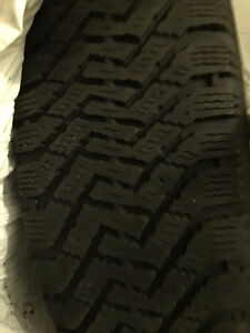 Like new four 225/55/17 Goodyear directional snow tires