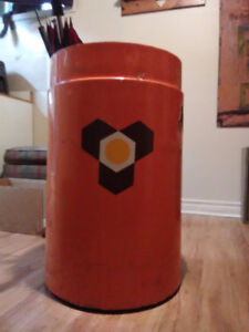 Fiberglass vintage beer store can garbage pail size