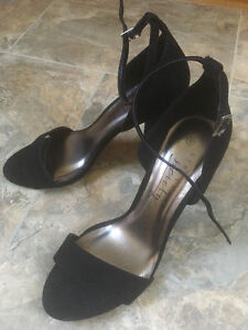 Gorgeous black suede block heels size 9