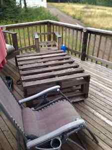 Hand made pallet bench and table