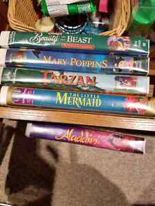 Assorted VHS Disney movies