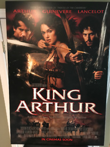 King Arthur Movie poster on plaque